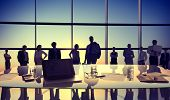 Back Lit Business People Togetherness Meeting Concept