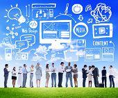 Diversity Business people Web Design Content Discussion Concept