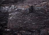 Coal lumps pattern background, close-up.