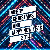 foto of happy new year 2014  - Merry Christmas and Happy New Year 2014 card - JPG