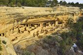 Cliff Palace In Mesa Verde National Park, Colorado In Winter