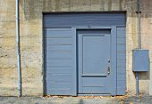 Blue Industrial Door