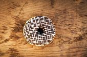Bright Donut On Wooden Background
