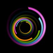 Abstract colorful swirl circle background. Vector logo eps 10