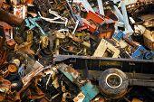 Industrial Scrap Metal Pile