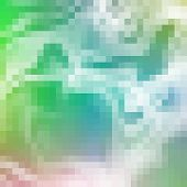 Blue And Green Pixel Mosaic