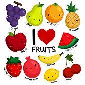 i love fruits (no background)
