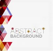 image of color geometric shape  - Abstract geometric background - JPG