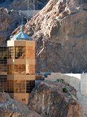 stock photo of dam  - Hoover Dam on the Nevada Arizona Border - JPG