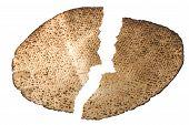 stock photo of matzah  - Shemurah matzah for Pesach holiday - JPG