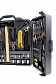 picture of pliers  - toolbox set of tools include hammer wrench bit driver pliers hex key bush level hex key - JPG