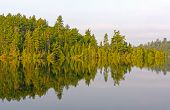 pic of emerald  - Morning Reflections on Emerald lake in Quetico Provincial Park in Ontario Canada - JPG
