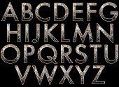 image of diva  - diva glitter alphabet collection isolated on black - JPG