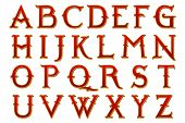picture of fantasy world  - Narnia fantasy world alphabet collection isolated on white - JPG