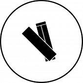 stock photo of sticks  - chewing gum sticks symbol - JPG