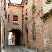 picture of ferrara  - Beautiful architecture in the downtown of Ferrara - JPG