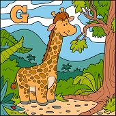 stock photo of g-spot  - Color alphabet for children - JPG