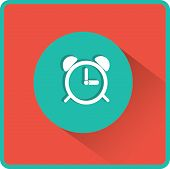 stock photo of analog clock  - Alarm clock icon - JPG