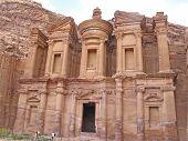 stock photo of petra jordan  - Monastery at Petra  - JPG