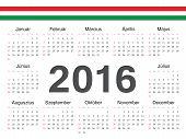 picture of hungarian  - Vector Hungarian circle calendar 2016 - JPG