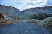stock photo of open-pit mine  - Open pit gold mine in Rosia Montana Romania - JPG