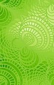 stock photo of green algae  - Abstract  wave green background of doodle drawn lines - JPG
