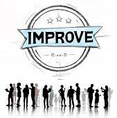 picture of motivation talk  - Improve Innovation Motivation Progress Reform Concept - JPG