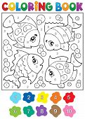 picture of fish  - Coloring book with fish theme 3  - JPG