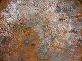 foto of dump  - Rusty metal sheet metal at the dump - JPG