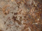 picture of dump  - Rusty metal sheet metal at the dump - JPG