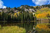 picture of cottonwood  - Silver lake in Brighton Utah - JPG