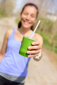 picture of smoothies  - Green vegetable smoothie  - JPG