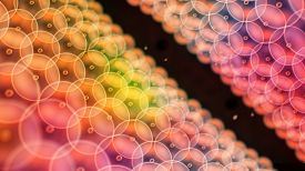 stock photo of mitosis  - Abstract illustration of cells in mitosis and multiplication of cells for beauty and biology concept - JPG