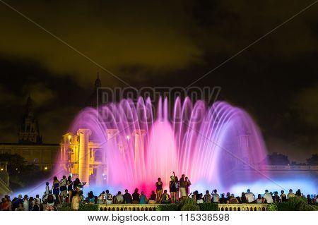 Magic Fountain Light Show In