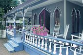stock photo of martha  - Porch on an Old Country House  - JPG