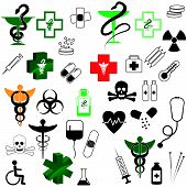 Collection  of Vector medical icons