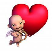 Cartoon Cupid With Heart
