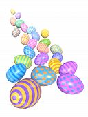 Cascade Of Colorful Easter Eggs