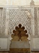 Wall carvings in the old Synagogue in Cordoba, Spain