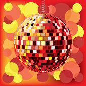 disco ball with background