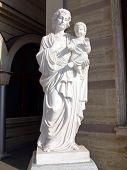 Monument Of Jesus With Child. Sofia, Bulgaria
