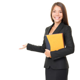 stock photo of real-estate agent  - Woman real estate agent  - JPG