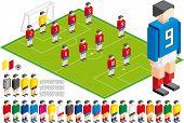 Ilustração em vetor de Kit tático de futebol, elementos estão em camadas para fácil edição