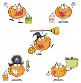 Pumpkin Cartoon Characters- Collection