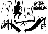 kids playground silhouette