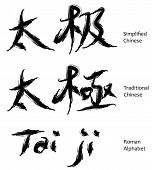 stock photo of taoism  - tai ji chinese characters in calligraphy it is a taoism philosophy term - JPG