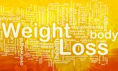 Background concept illustration of weight loss diet international