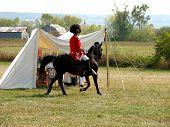 British Commander On Horseback