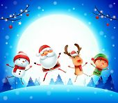 Santa4_friends_moon 01 poster