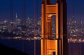 Golden Gate Bridge And San Francisco At Night